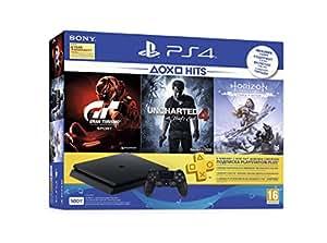 Sony PS4 500 GB Slim Console (Free Games: Gran Turismo - Sport/Uncharted 4/Horizon Zero Dawn)