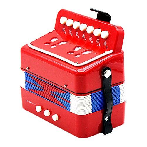MagiDeal Kinder Akkordeon Ziehharmonika Musikinstrument Spielzeug (ab 3 Jahre) - Rot