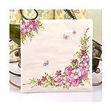 Tovaglioli di Carta per caffè e Fiori Tovaglioli di Carta per caffè e Fiori Decoupage Decoration Paper 33cm * 33cm 20pcs / Pack/Lot