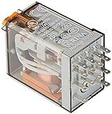 Finder serie 55 - Rele industrial 230vac 4 contactos 5a pulsador +indicador