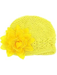 Culater® Cappello del Fiore del Bambino Neonato Ragazza del Cotone Beanie  cap Fiore di Peonia 80b60d76db91