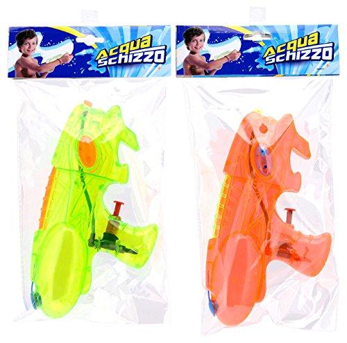 GLOBO 36685 Pistola de Agua Pistola de Agua - Pistolas de Agua (Pistola de Agua, Integrado, Naranja, Amarillo, 200 mm, Ampolla)