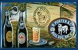 Blechschild Nostalgieschild Porter & Co. Bulldog Hund Brand Beer retro Schild Nostalgie Bier Werbeschild