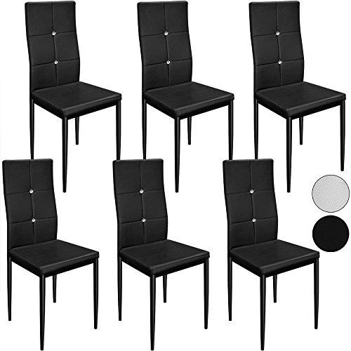 Deuba 6 Esszimmerstühle Stuhl Hochlehner Polsterstuhl Sitzgruppe Essgruppe Esszimmerstuhl Weiß