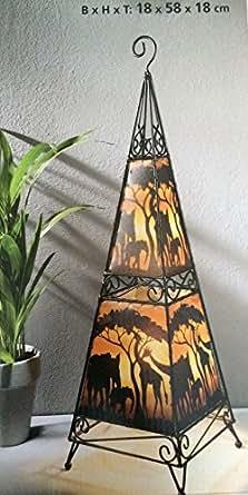 bodenlampe safari deko stehlampe lampe standlampe leuchte. Black Bedroom Furniture Sets. Home Design Ideas