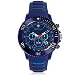 Ice-Watch - BMW Motorsport (sili) Dark & Light BE - Blaue Herrenuhr mit Silikonarmband - Chrono - 001131 (Large)