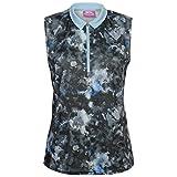 Slazenger Femmes Fashion Sans Manche Golf Polo Shirt T-Shirt Tee Top Sans Manche Femme Multi Imprimé 2 S