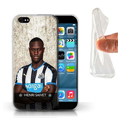 Officiel Newcastle United FC Coque / Etui Gel TPU pour Apple iPhone 6S / Pack 25pcs Design / NUFC Joueur Football 15/16 Collection Saivet