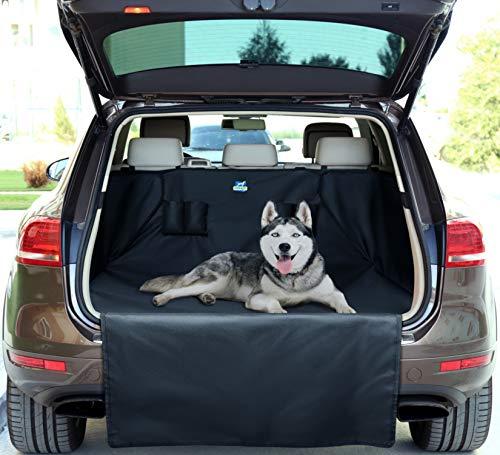 Jekam Kofferraum-Schutz Hund XXL mit praktischer Transporttasche strapazierfähige Kofferraumschondecke mit Seitenschutz für Kombi SUV und Van