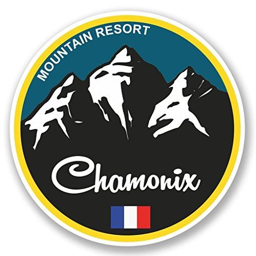 2 X 10cm100mm Chamonix Ski Snowboard Fenster Kleben Aufkleber Auto Van Wohnmobil Glas 5317