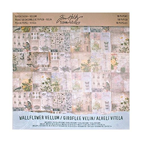 ADVANTUS CORPORATION WallFlower Paper Stash by Tim Holtz Idea-Ology 12x12 Pergament 12 by 12-Inch -
