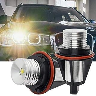 Angel Eyes LED Bulbs,10W Angel Eyes Halo Ring Marker Bulbs Canbus Error Free 6500K White Fit for B-M-W E39 E53 E60 E61 E64 E65 E66 E87 X3 X5 (Pack of 2)