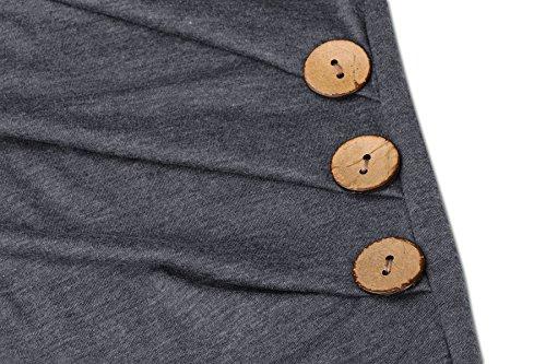 fb3eb3253f84ff Blazar Donna Camicia Estate Maglietta Oversize Sportiva Camicetta Maglia  Maniche Corte T Shirt Tee Grigio L. Visualizza le immagini