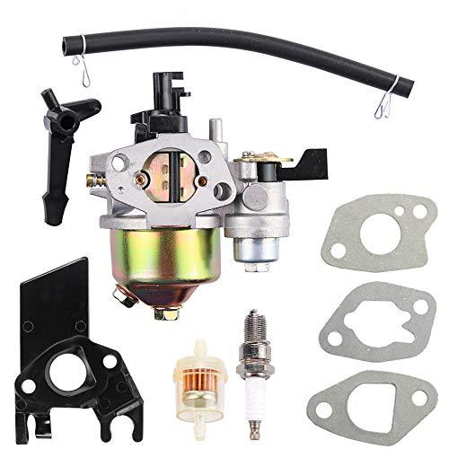 für Honda GX168F 5.5HP GX200 6.5 PS Motor WP30X EG1400 EZ2500 Generator 16100-ZH8-W61 16100-ZLO-W51 Vergaser mit Choke Hebel Ansaugstutzen Kraftstofffilter Teile Kit ()