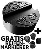GRIP&BENDER Wagenheber Gummiauflage | GRATIS Ventilmarker-Set | Universal-Auflage für Rangierwagenheber | Dieses Wagenheber-Pad Schützt Ihr Auto vor Kratzern