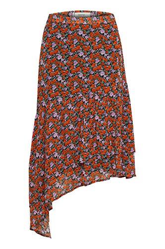 GESTUZ Damen Kleid Rosanna Skirt Rot (Small Red Rose 90545) 36