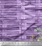 Soimoi Lila Seide Stoff überprüfen, Blätter und