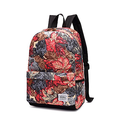 willtop Leinwand Rucksack Laptop Daypack Schule Buch Tasche Rucksack Rot