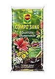 COMPO SANA Qualitäts-Blumenerde mit 8 Wochen Dünger für alle Zimmer-, Balkon- und Gartenpflanzen, Kultursubstrat, 50 Liter