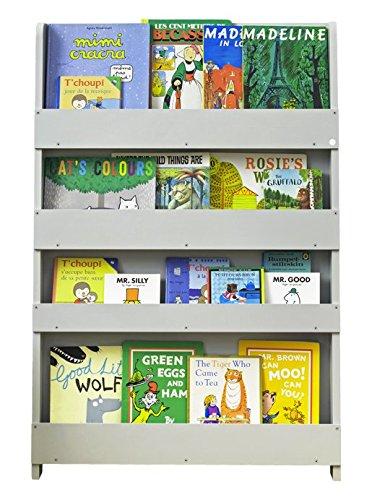 Tidy Books ® - Bücherregal Kinder | Hellgrau | Wandregal Kinderzimmer | Montessori Material | Holzregal | 115 x 77 x 7 cm | Nachhaltig und Umweltfreundlich | Handgefertigt | Das Original seit 2004 -