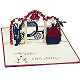 Favour Pop Up Glückwunschkarte zur Hochzeit. Stilvolles Design
