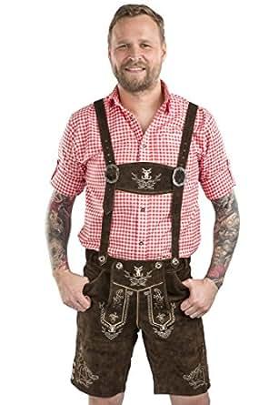 Men S Traditional German Lederhosen Bavarian Leather