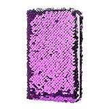 Junlinto, Creative Paillettes Bloc-Notes Bloc-Notes Journal de Paillettes Memos Papeterie Fournitures de Bureau Papeterie 78 Feuilles Violet