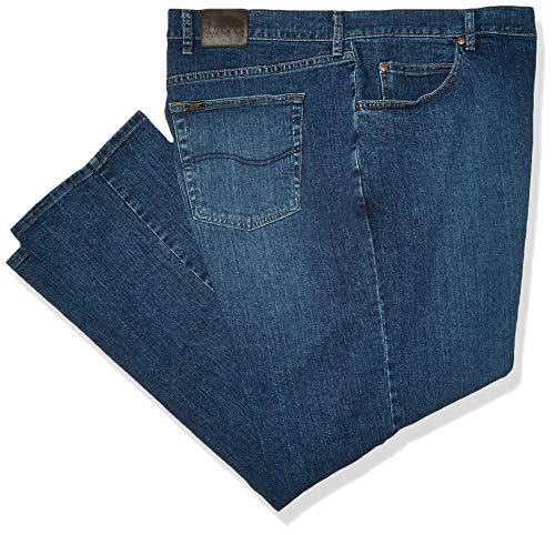 Lee Herren Big & Tall Regular Fit Straight Leg Jeans, Patriot, 56W / 30L