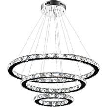 24W Lampe Kristall Kronleuchter Deckenlampe Pendelleuchte Lüster Hängeleuchte DE