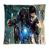 Vintastore NEUF Iron Man Robert Downey JR Tony Stark Parure de lit de films Cool DIY Taie d'oreiller, 18x18inch