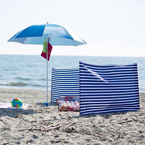 D-Mail Dmail Windschutz für Strand und Camping mit Heringen