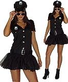 maylynn 13709 - Costume da poliziotta sexy - vestito con cappello - nero - M - 46/48