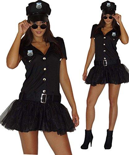 Sexy Erwachsene Für Kostüm Julia - Maylynn 13709-S - Kostüm Sexy Polizistin, Kleid mit Mütze, Größe S, schwarz