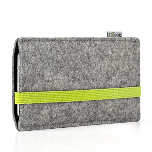 Stilbag Custodia di feltro 'LEON' per Nokia 5.1 Plus - Colore: lime - grigio