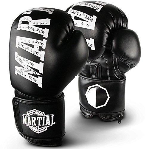 Super Active Sports Martial Boxhandschuhe aus bestem Material für Lange Haltbarkeit! Kickboxhandschuhe für Kampfsport, MMA, Sparring und Boxen mit optimaler Schlagdämpfung. Hoher inkl Beutel!