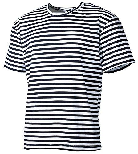 Russisches Marine T-Shirt rundhals blau-weiss S-XXXL XXL,blau-weiss - Marine T-shirt Gestreift