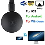 HARRYSTORE Miracast 1080P WiFi Display Dongle TV Wireless Receiver HDMI AirPlay DLNA Share Wifi Display Adapter