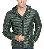 Bestfort Daunenmantel Herren Daunen Warm Ultraleicht Lange Ärmel Daunenjacke mit Kapuze Mantel Outdoor für Winter Einfarbig