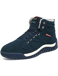 Minetom Casual Calda Sneakers Inverno Moda Uomo Casual High Top Scarpe  Scarpe Scarpe da Ginnastica Sportive 16201439cb5