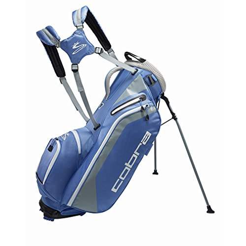 Cobra Ultralight Standbag / Golfbag blau Puma Golftasche , Farbe:Blau/Weiß