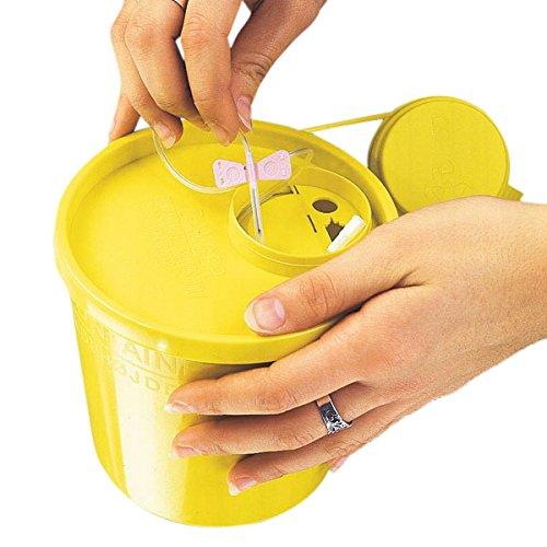 Servoprax I9 0120 Servobox Abfallsysteme Für Spritzen Und Kanülen, Groß Type, 2000 mL Volumen, 17,8 cm Höhe, 13,5 cm Oben / 11,0 cm Unten Durchmesser, Gelb (100-er Pack)