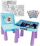 Unbekannt Set: Tisch & Stuhl - Incl. Malvorlagen + Stifte -  Disney die Eiskönigin - Fr..