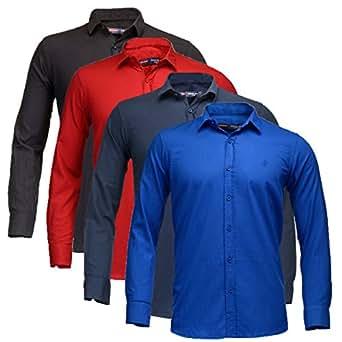 Feed Up Men's Blended Shirt (FeedCombo403_38_Multi-Coloured38)