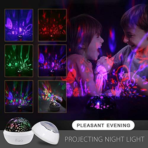 Nachtlicht Kinderlampe Baby Einschlafhilfen, 8 Romantische licht für Schlaf Entspannen Sternenhimmel Projektor - Sternenhimmel, Sterne, Schlaf, Romantische, Projektor, Party, Nachtlicht, Licht, Lampe, Kinderlampe, Entspannen, einschlafhilfen für kinder, einschlafhilfen, Drehend, Baby