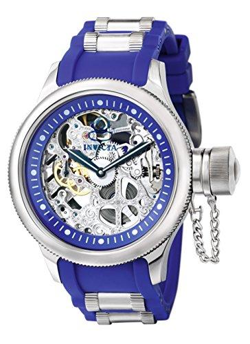 Invicta 1089 Russian Diver Herren Uhr Edelstahl mechanisch blauen Zifferblat