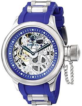 Invicta Herren-Armbanduhr XL Analog Handaufzug Kautschuk 1089