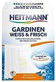 Heitmann Gardinen Weiss und Frisch, 5 Portionsbeutel: Entfernt Schmutz und Grauschleier aus Gardinen - Waschmittel-Ergänzung gegen Gilb, Nikotin und Gerüche - für lange Frische und ein brillantes Weiß