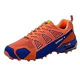 Traillaufschuhe,Herren Sneakers Casual Sportschuher Bergschuh Leichte Atmungsaktive Schnürschuhe Tennisschuhe (EU:43, Orange)
