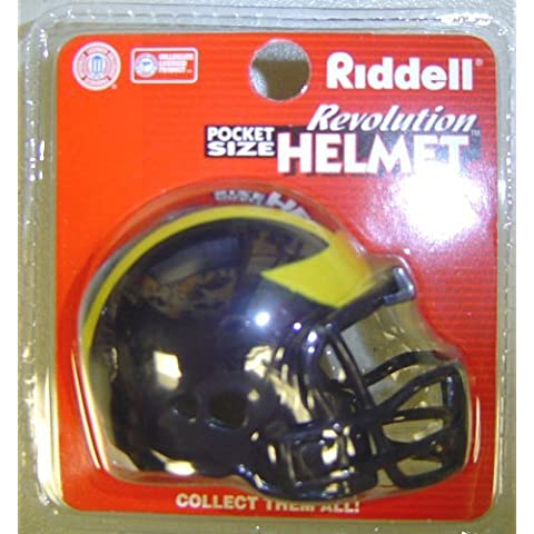 Michigan Wolverines Riddell Revolution Pocket Pro NCAA Football Helmet by Creative Sports