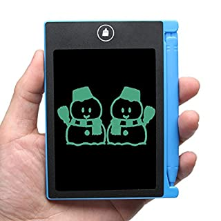 Amazingdeal365 4.4 inch Digital Writing Tablet Handwriting Paperless Drawing Graffiti Notepad LCD Writing Tablet for Family Message Board (Blue)